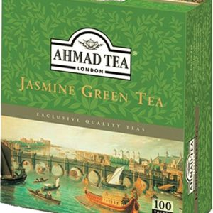 Ahmad Tea Jasmine Green Tea 100 Tagged Tea Bags