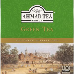 Ahmad Tea Green Tea 100 Tagged Tea Bags