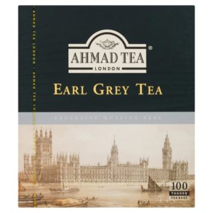 Ahmad Tea Earl Grey Tea 100 Tagged Tea Bags