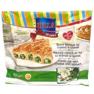 Bella Family Pie with Cheese and Spinach 800g