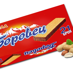 Borovets Wafer with Peanuts Cream 630g