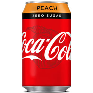 Coca Cola Peach Zero Sugar 330ml