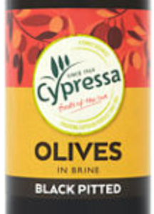 Cypressa Black Pitted Olives 160g