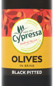 Cypressa Black Pitted Olives 455g