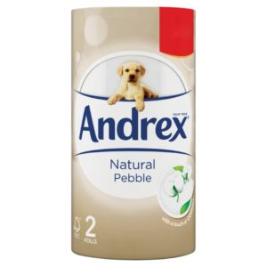 Andrex Toilet Tissue Natural Pebble 2 Rolls