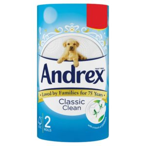 Andrex Toilet Tissue Classic Clean 2 Rolls