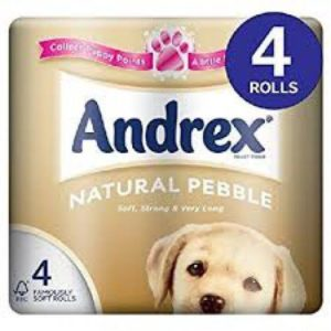 Andrex Toilet Tissue Natural Pebble 4 Rolls