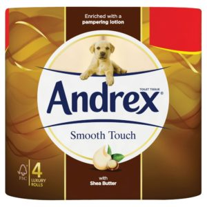 Andrex Toilet Tissue Smooth Touch 4 Rolls
