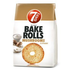 7days Bake Rolls Mushrooms & Cream 80g