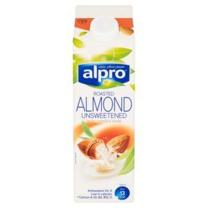 Alpro Almond Roasted Unsweetened Fresh Milk 1Lt