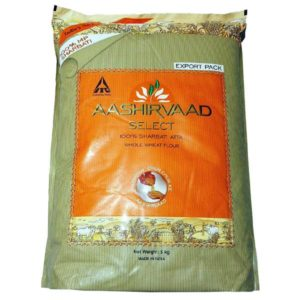 Aashirvaad Select 100% Sharbati Atta Whole Wheat Flour 5kg
