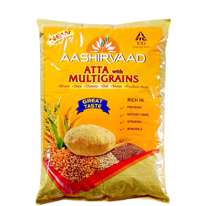 Aashirvaad Atta with Multigrains Whole Wheat Flour 10kg